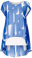 Phase Eight Tula Print Silk Blouse, Blue/White