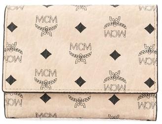 MCM Foldover Top Wallet