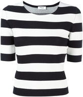 Akris Punto fitted breton stripe top - women - Polyester/Viscose - 36