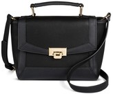 Merona Women's Satchel Clasp Closure Black