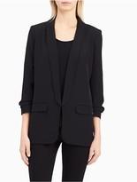 Calvin Klein Shawl Collar Open Blazer