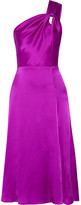 Cushnie et Ochs One-shoulder Silk-charmeuse Dress - Purple
