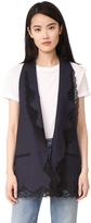 Alexander Wang Elongated Vest with Lace Trim