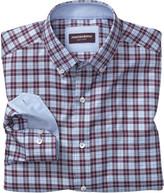 Johnston & Murphy Square Framed Windowpane Shirt
