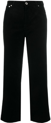 A.P.C. High-Rise Cropped Jeans