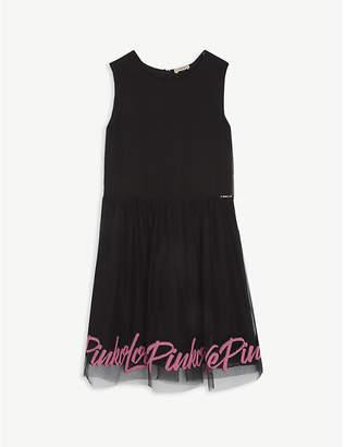 Pinko Logo print sleeveless tulle dress 8-16 years