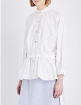Pringle Puff-sleeve stretch-cotton shirt