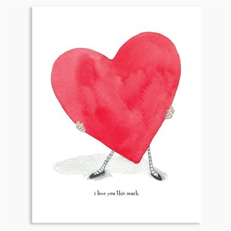 E Frances Paper E. Clips Valentine Card I Love You This Much