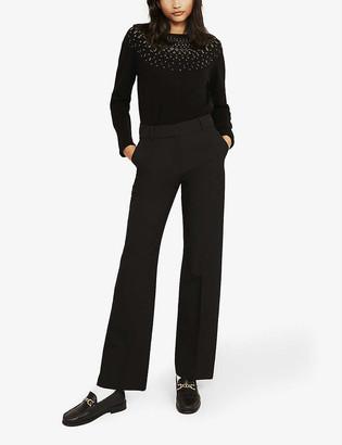 Claudie Pierlot Miou round-neck knitted jumper