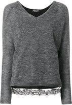 Twin-Set lace detail jumper