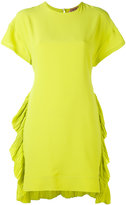 No.21 ruched hem dress - women - Silk/Acetate - 40