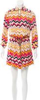 Diane von Furstenberg Silk Chevron Dress