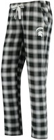 Green & Black Unbranded Women's Concepts Sport Green/Black Michigan State Spartans Plus Size Forge Flannel Pants