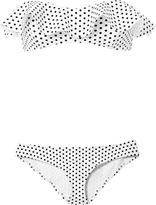 Lisa Marie Fernandez Natalie Flounce Polka Dot Bikini