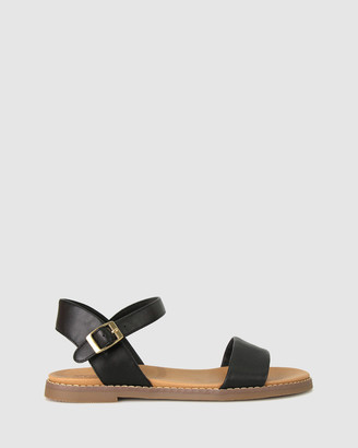 Zeroe - Women's Black Flat Sandals - Wide Fit Atlas Footbed Sandals - Size One Size, 6 at The Iconic