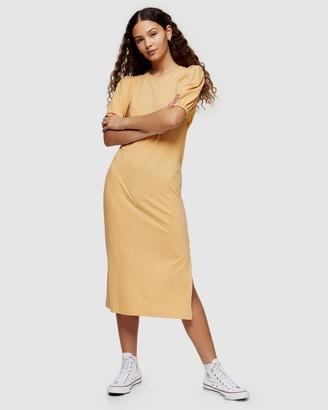 Topshop Open Back T-Shirt Dress