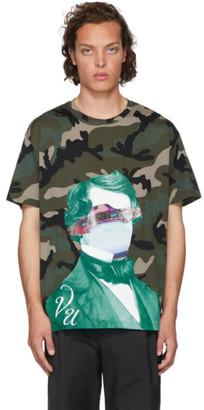 Valentino Green Undercover Edition V Face UFO Print T-Shirt