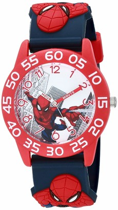 Marvel Boys' Spider-Man Analog Quartz Watch with Plastic Strap