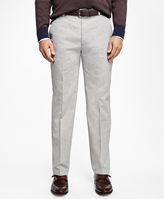 Brooks Brothers Milano Fit Heathered Flat-Front Pants