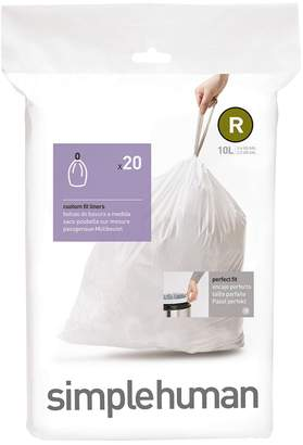 Simplehuman R 10L Custom Can Liners 20-Pack