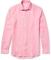 Etro Slim-Fit Slub Linen Shirt