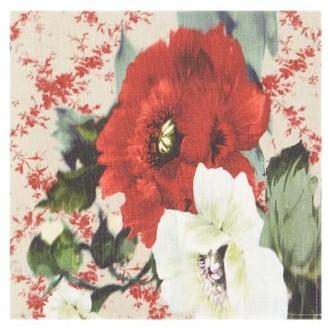 Preen by Thornton Bregazzi Set Of Four Floral-print Linen Napkins - Red Multi