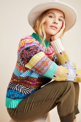 Anthropologie Ryan Fair Isle Sweater