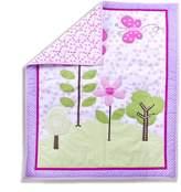 Dream On Me Spring Garden 5-Piece Reversible Portable Crib Bedding Set