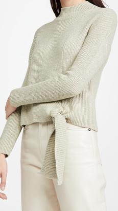 Naadam Side Tie Mockneck Sweater