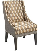 Lexington Monterey Sands Upholstered Dining Chair Upholstery Color: Brown/Beige, Leg Color: Gray, Nailhead Color: Silver