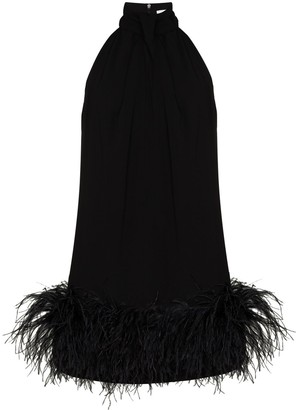 16Arlington Cynthia feather-trim mini dress