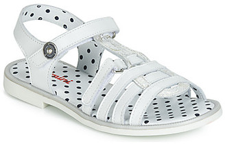Catimini MUNDA girls's Sandals in White