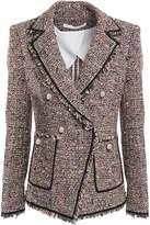 Veronica Beard Frayed Cotton-blend Tweed Blazer