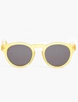 Illesteva Yellow 'leonard' Acetate Sunglasses