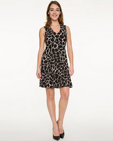 Le Château Giraffe Print Knit V-Neck Dress
