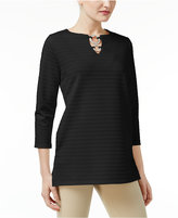 JM Collection Ribbed Hardware Tunic, Only at Macy's