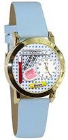 Whimsical Watches Women's C0610004 Classic Gold Dentist Baby Blue Leather And Goldtone Watch