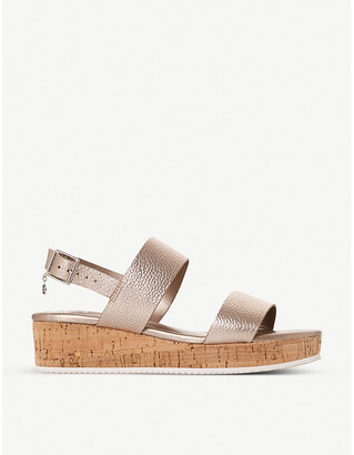 Dune Lennie leather platform sandals