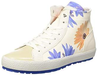 D'Acquasparta D'ACQUASPARTA Women's Tessa Hi-Top Trainers, Off- Flower of White FOW