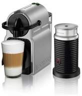 Nespresso by De'longhi Inissia Espresso Maker Bundle with Aeroccino Frother in Silver