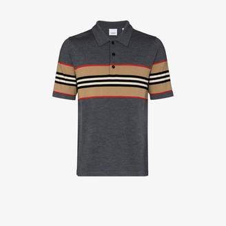 Burberry Oxford Merino Wool Polo Shirt