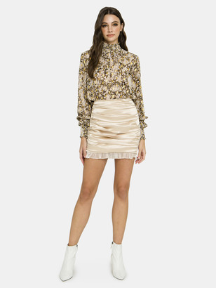 Endless Rose Ruched Mini Skirt