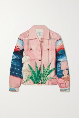 Casablanca Chambre 602 Printed Denim Jacket