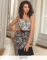 Lipsy Love Michelle Keegan Petite All Over Lace Contrast Bodycon Dress