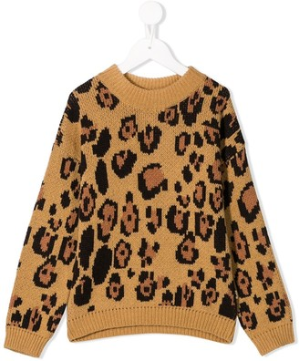 Mini Rodini Leopard Knitted Sweater