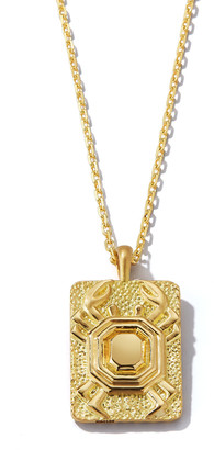 David Webb Cancer Zodiac Pendant Necklace in 18k Gold