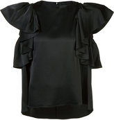 Co ruffle sleeve blouse - women - Polyester/Triacetate - XS