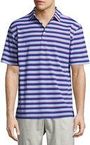 Peter Millar Peace Stripe Polo Shirt, Blue