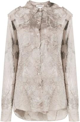 Nina Ricci Creased Floral Print Shirt