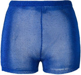 Balmain knitted mini shorts - women - Polyester/Acetate - 36